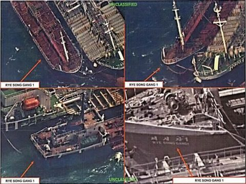 Chinese Ships Spotted Illegally Selling Oil to North Korea by U.S. Spy Satellite