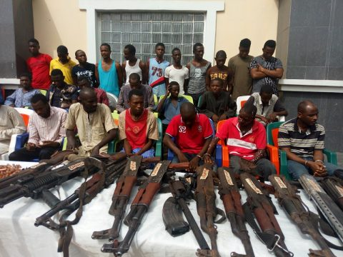 Police Parades 30 Deadly Kidnappers In Kogi