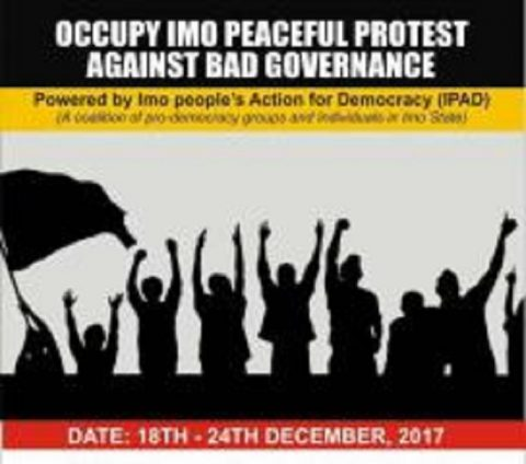 Fear Grips IPAD Over Occupy Imo Protest, Police Threat