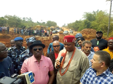 Images: Obiano Inspects Work At The Nengo River Bridge, Nteje