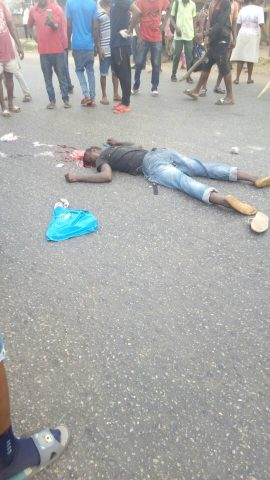 Pandemonium, As Motorist Meets Death In Altercation With Police Operatives In Benin