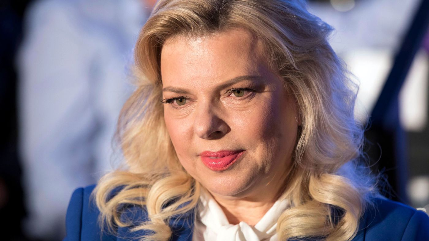 Sara Netanyahu, shown in a May 21, 2017, photo, is accused, along with her husband, Israeli Prime Minister Benjamin Netanyahu, of inappropriately accepting expensive gifts.