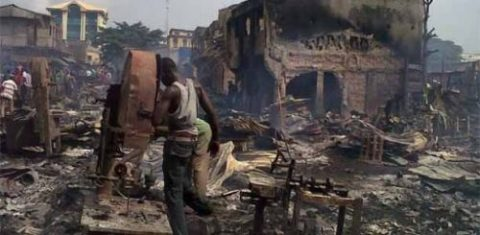 Traders Count Losses As Fire Guts Onitsha Market