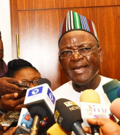 Presidential Polls Results: Ortom, David Mark, Ayu Storm INEC Headquarters To Lay Complaints