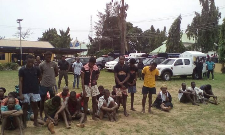 Police Parades Fake Lawyer, 2 Prophets, 59 Others Over Armed Robbery, Kidnapping