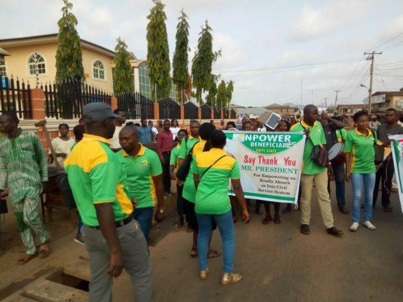 Ekiti 2018: Drama As N-Power Beneficiaries Rally For Fayose's Deputy