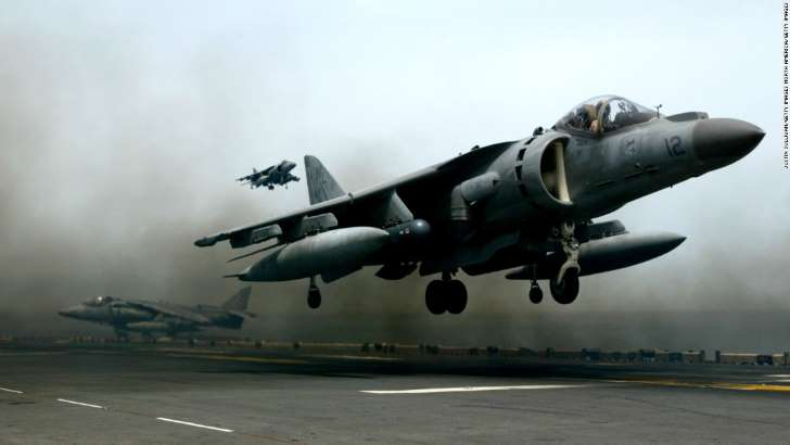 U.S. Harrier Jet Crashes In East Africa