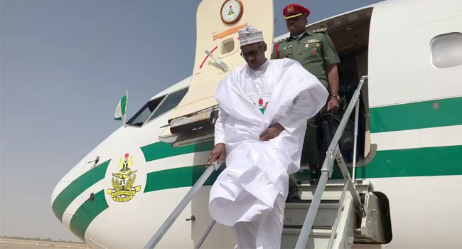 President Buhari Returns To Abuja After Official Visit To U.S