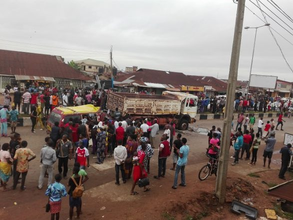 Pandemonium In Benin, As Drivers Protest Fatal Accident That Claimed 4 Lives
