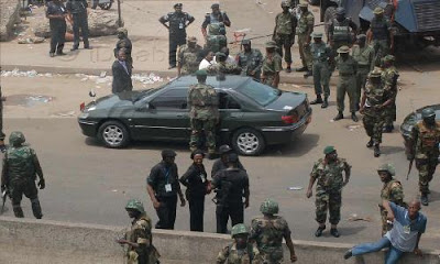 Breaking News: Soldiers Sack Police Station, Arrest DPO Over Murder Of Colleague