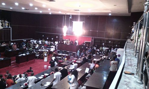 Rowdy Session In Imo State Assembly As Speaker Announced Removal Of Majority Leader