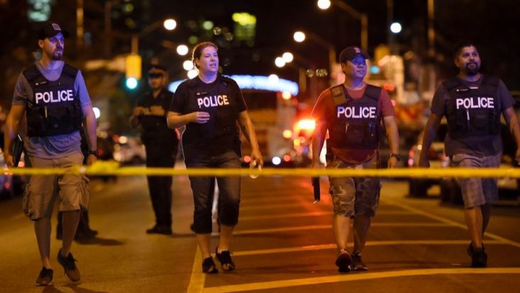Mass shooting in Toronto; 1 killed and about 14 shot; gunman dead