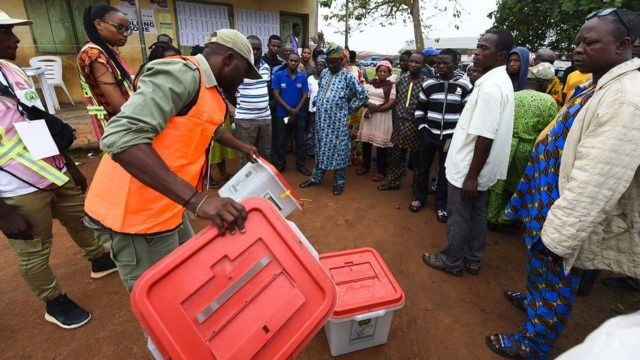 Osun Election Monitoring Group on duty.