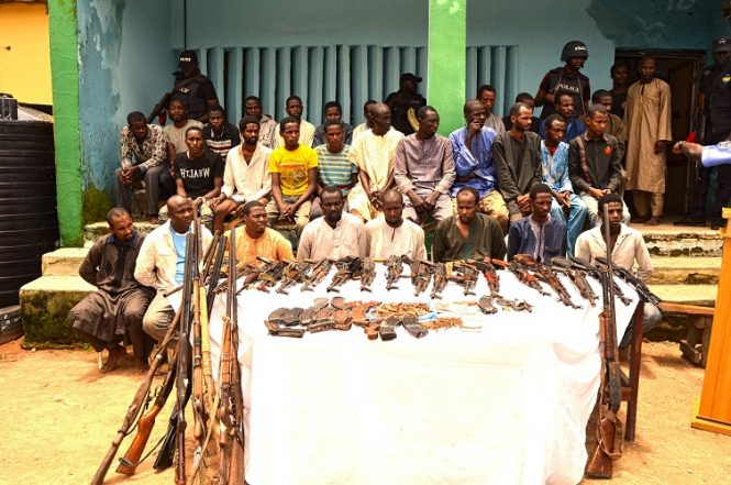 Police Parades Notorious Kidnappers In Kaduna