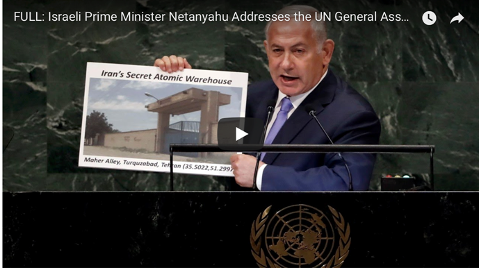 Netanyahu Delivers New Bombshell About Iran at UNGA