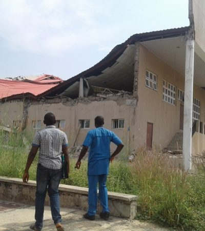 Corruption: TETFund Lecture Building Collapses In BSU, VC Calls For Restraint