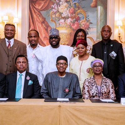 Images: Obiano, Buhari Meets Nigerians In France