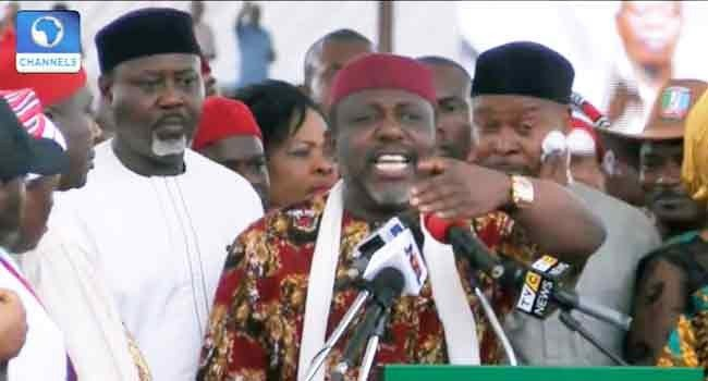 Mr. Adams Oshiomhole & Chief Hope Uzodinma's Media Handlers Should Not Inject Virus Into What President Muhammadu Buhari Said In Owerri