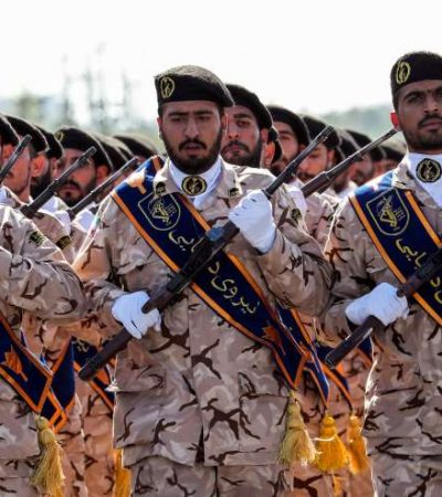 Iran's Revolutionary Guards says U.S. forces should leave the region