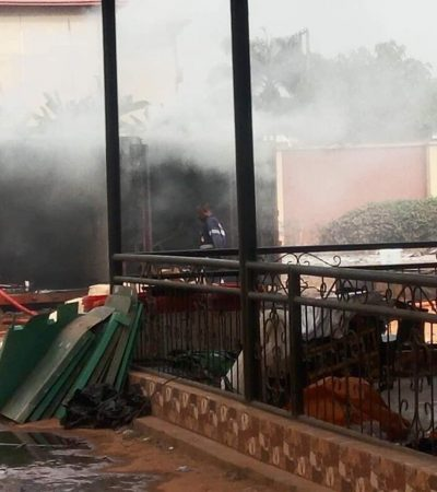 Video: INEC Awka On Fire