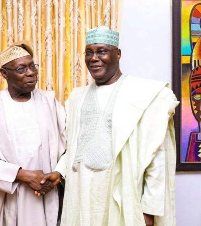 Atiku, Obasanjo Meet In Abeokuta