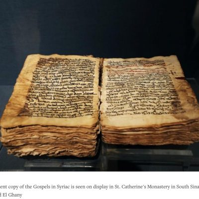 Ancient Christian manuscripts digitized at monastery beneath Mount Sinai