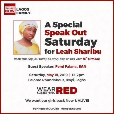 Speak Out Saturday For Leah Sharibu