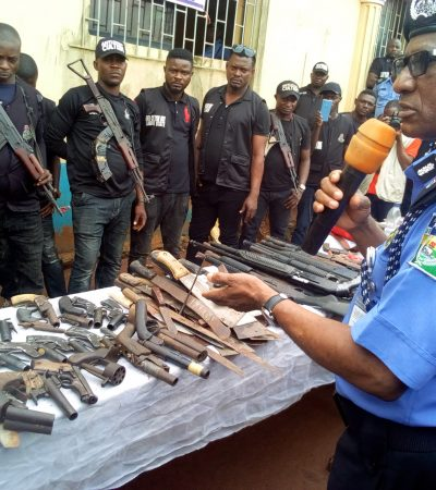 Lagos police launch 'Operation Crush, parade 202 suspected criminals