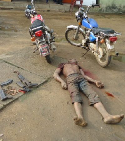 End Of Road:Police Kill 3 Man Kidnap Gang, Frees 2 Hostages