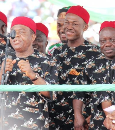 Jonathan's PDP Rally in  Enugu in Pictures