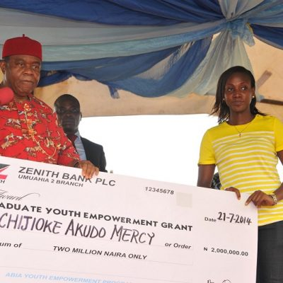 PhotoNews: Gov. Orji 2014 Youth Empowerment Programme