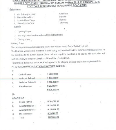 Match Fixing: Secret Document Nails Kano Pillars