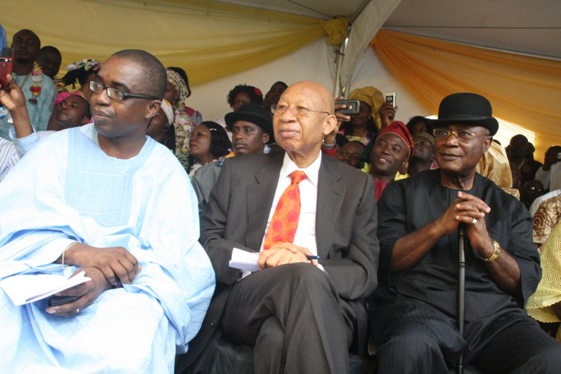 Wale Goodluck+Pascal Dozie+Victor Odili all of MTN @ 10 event recent 2