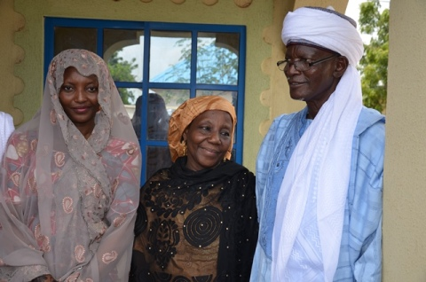 The Bride Former Miss Amina Giade With Her Parents Mr And  Mrs Hauwa Giade