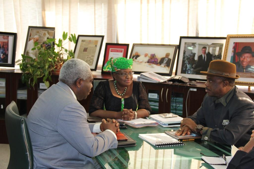 (L-R) Prof. Solomon Osita Chukwulobelu, Anambra State Commissioner for Economic Planning and Budget and Chief Willie Obiano, Governor of Anambra State during a courtesy visit to the Ministry in Abuja...Thursday