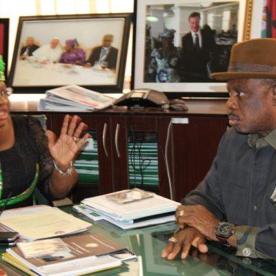 PhotoNews: Obiano's Visit To Dr. Ngozi Okonjo Iweala