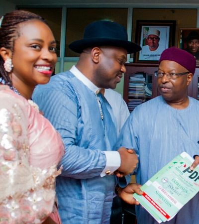 Delta Guber: Ochei submit PDP nomination form in Abuja