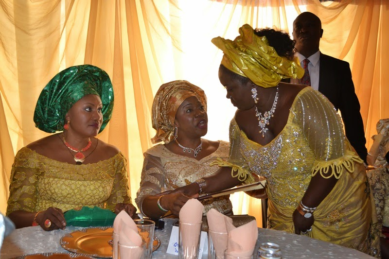 (L-R): Wife of the governor of Anambra State, Chief (Mrs.) Ebelechukwu Obiano, Arcs. Mrs. Yemisi Suswan, wife of the governor of Benue State and Mrs. Rachael Dickson wife of the governor of Bayelsa State