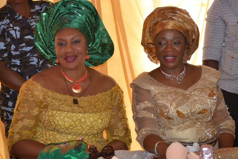 In support of the First Lady (L-R): wife of the governor of Anambra State, Chief (Mrs.) Ebelechukwu Obiano and Arcs. Mrs. Yemisi Suswan wife of the governor of Benue State