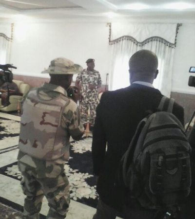 President Jonathan Pays Surprise Visit To Troops In Battlefield In Adamawa
