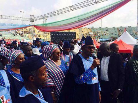 Buhari in Lagos...so many empty seats