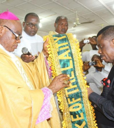 Catholic Laity Council Honours Obiano, Wife with Rare Titles