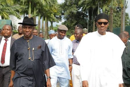 GOV AMAECHI, DAKUKU PETERSIDE AND GENERAL BUHARI