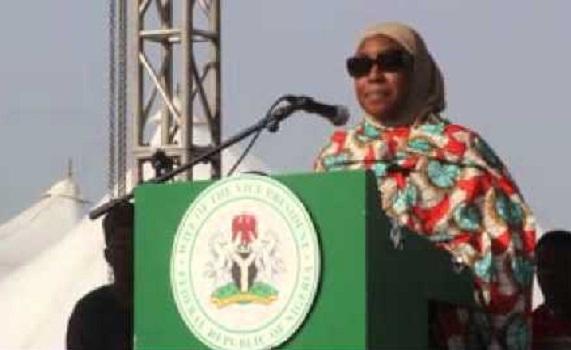 Massive Turnout As Hajiya Amina Namadi Sambo Campaigns In Adamawa For Jonathan