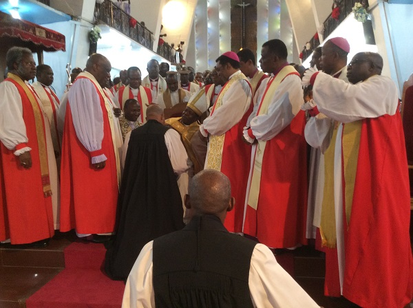 The Consecration of 3 new Anglican Bishops at Onitsha by the Primate Metropolitan, Church of Nigeria, Nicholas Okoh