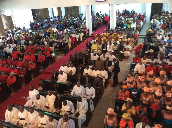 A cross section of the large congregation at the event yesterday