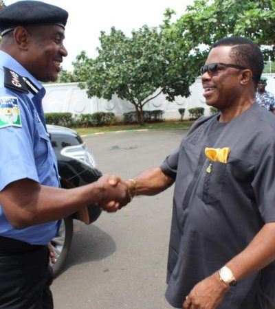 IGP Arase Visits Anambra, Lauds Obiano's Commitment to Security
