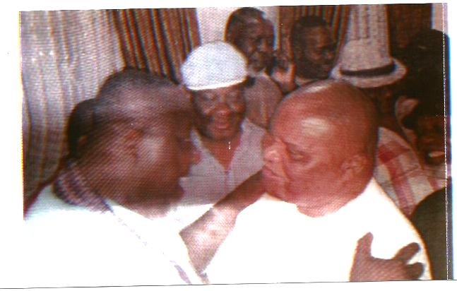 SENATOR  ARARAUME  REJOICING  WITH   GOV  OKOROCHA  ON  HIS  VICTORY  IN  THE  JUST   CONCLUDED   GOV  ELECTION   IN  IMO   STATE
