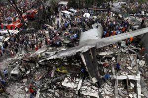 30 killed as Indonesian military plane crashes
