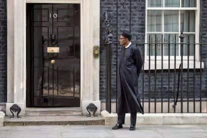 buhari in london alone